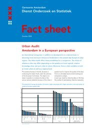 Urban Audit: Amsterdam in a European perspective
