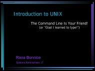 Unix Intro I - scharp