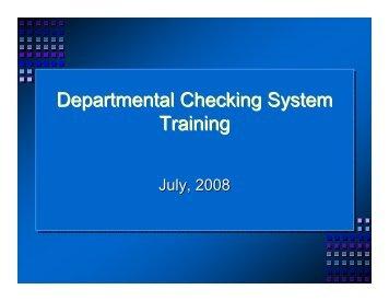 DCS Check Training, July 2008 (pdf)
