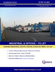 ROBERTSON INDUSTRIAL & OFFICES – TO LET - Caldes