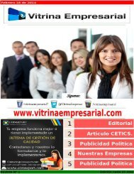 Revista Digital Vitrina Empresarial 1 Edición