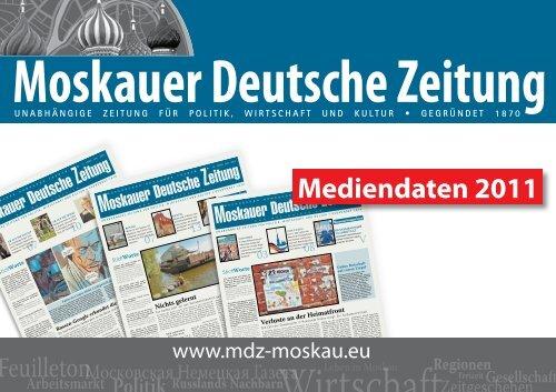 Moskauer Deutsche Zeitung - MDZ-Moskau