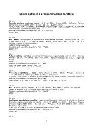 Sanità pubblica e programmazione sanitaria - Assemblea legislativa ...