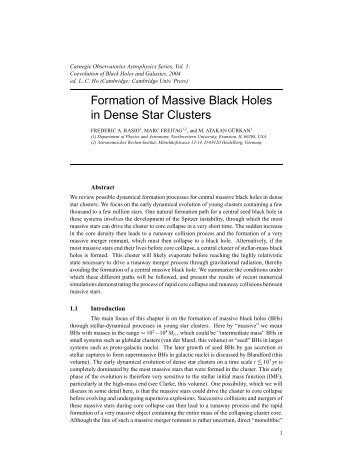 Formation of Massive Black Holes in Dense Star Clusters