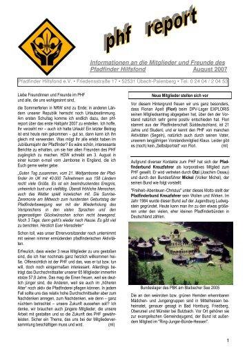 Informationen an die Mitglieder und Freunde des  Pfadfinder ...