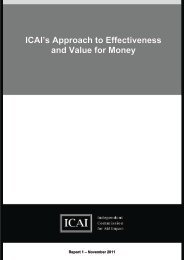 ICAI's Approach to Effectiveness and Value for Money