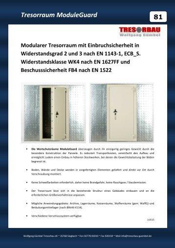 Tresorraum ModuleGuard - Wolfgang Gümbel Tresorbau