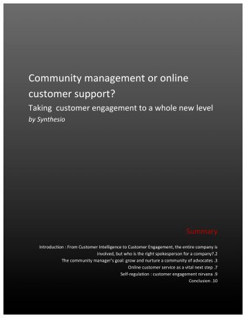Community management or online customer support? - Synthesio
