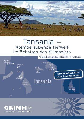 Tansania – - Grimm Reisen