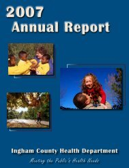 2007 Ingham County Health Department Annual Report