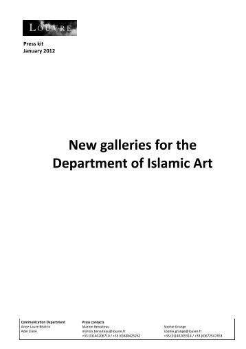 New galleries for the Department of Islamic Art - Musée du Louvre