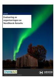 Evaluering av organiseringen av NordNorsk Reiseliv - Menon ...