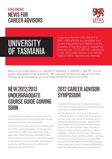 Recruitment News February 2012 - Future Students - University of ...