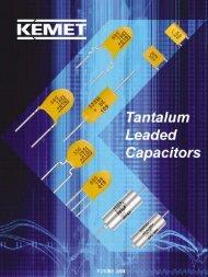 Tantalum Leaded Catalog F3100 11/06/2007 (9273Kb) - Kemet
