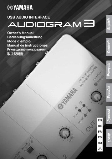 Audiogram 3 Owner's Manual - Jam.ua