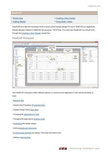 HeaDCAD 2.3 - Advanced Logic Technology