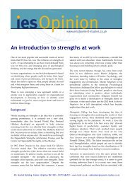An introduction to strengths at work - The Institute for Employment ...