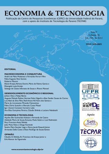 Revista Economia & Tecnologia - Universidade Federal do Paraná