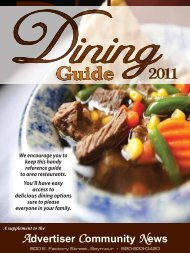 2011 dining guide - Advertiser Community News