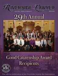 June 2010 - Riverside Lawyer Magazine - Riverside County Bar ...