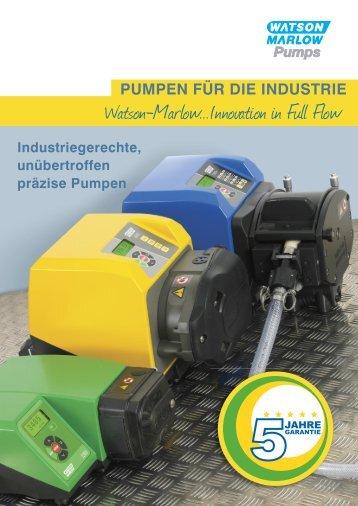 PUMPEN FÜR DIE INDUSTRIE - Watson-Marlow GmbH