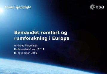 Andreas Mogensen (pdf) - Uddannelsesforum 2011