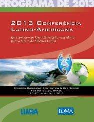2013 Programa do evento - Limra