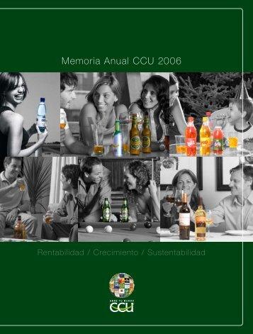 Memoria Anual CCU 2006 - CCU Investor