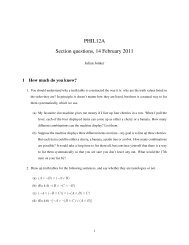 PHIL12A Section questions, 14 February 2011 - Philosophy