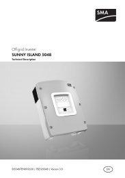 SUNNY ISLAND 5048 - Technical Description - Solarbag-Shop