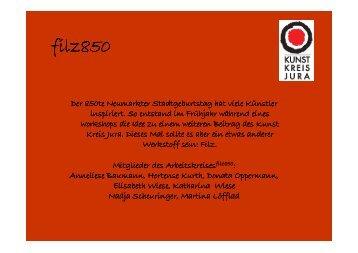 filz850 - beim KUNSTKREIS JURA