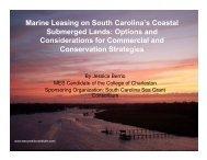 SC Marine Leasing On South Carolinas Coastal Submerged