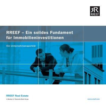 RREEF – Ein solides Fundament für Immobilieninvestitionen