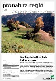 regio 4/2012 - Pro Natura Graubünden