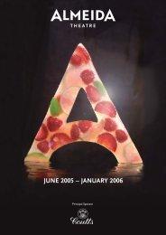 alm brochure - Almeida Theatre