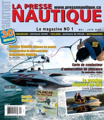 La Presse Nautique volume 4, no 2, mai-juin 2006 - NautiPneu