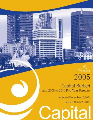 2005 Adopted Capital Budget - City of Winnipeg