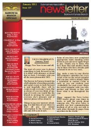 January 11 - Barrow Submariners Association
