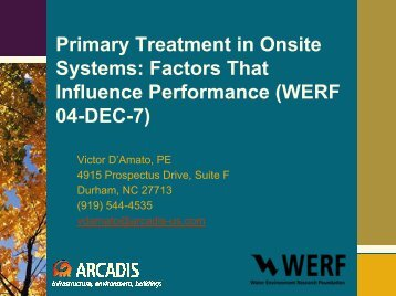 Primary Treatment in Onsite Systems - National Water Program