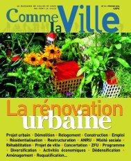 Comme la Ville - le magazine de celles et ceux qui font la ville - n°13 ...