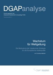 Wachstum für Weltgeltung - European Foreign and Security Policy ...