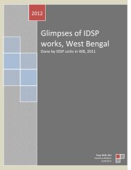 Glimpses of IDSP works, West Bengal - Department of Health ...
