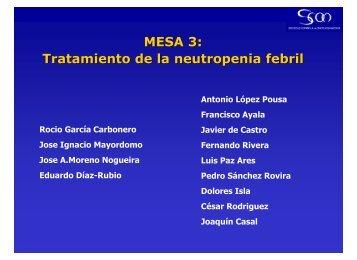 MESA 3: Tratamiento de la neutropenia febril