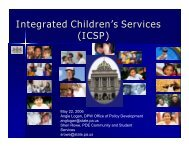 Integrated Children's Services - Center for Schools and Communities