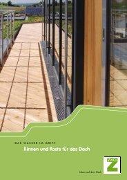 Rinnen und Roste für das Dach - ZinCo