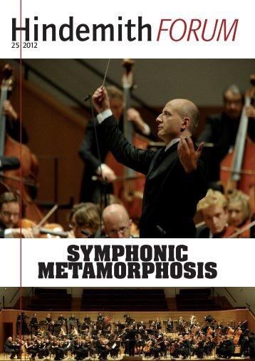 SYMPHONIC METAMORPHOSIS - Paul Hindemith