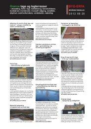BYG-ERFA informationsblad om grønne tage og ... - Klimatilpasning