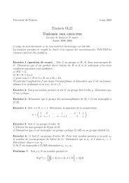 Examen 6L22 Théorie des groupes - Université de Poitiers