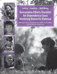 for domestic violence? - National Council of Juvenile and Family ...
