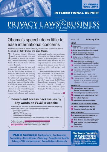 PL&B International - Privacy Laws & Business